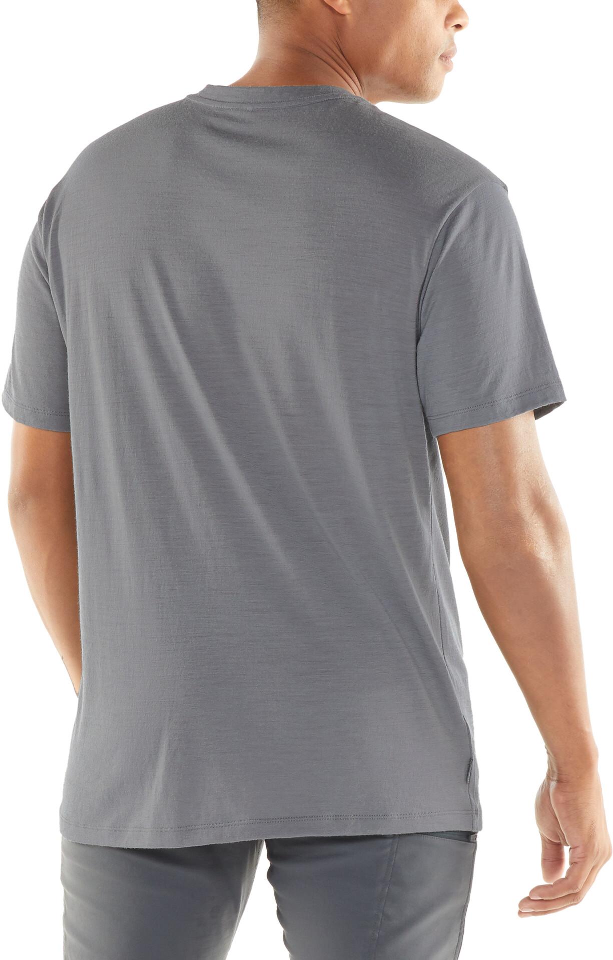 Icebreaker Tech Lite Made Different T shirt Herrer, timberwolf